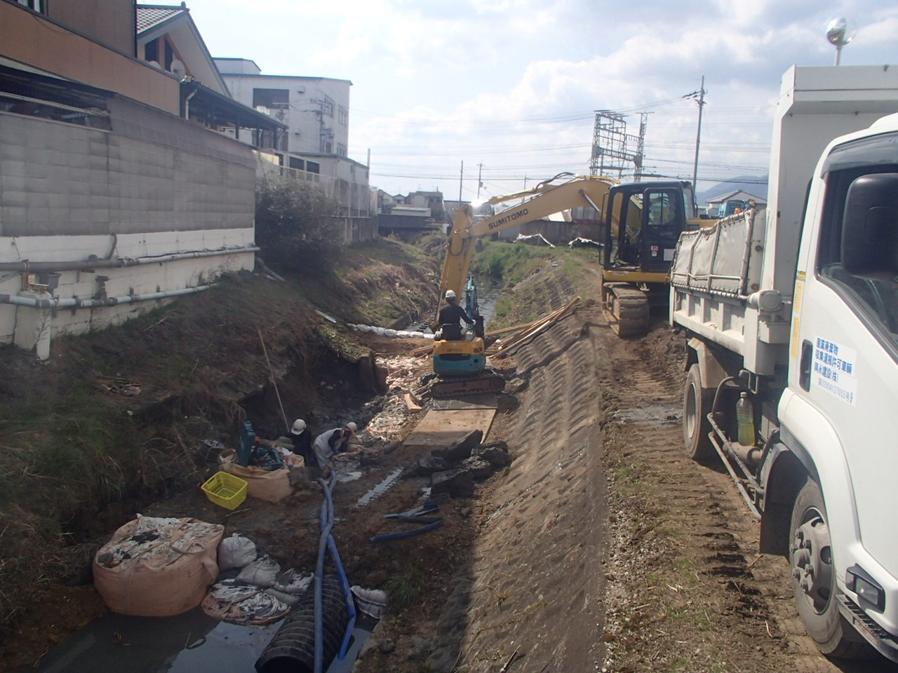 葛下川 護岸工事